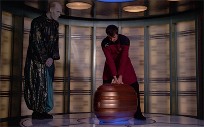 Riker does the heavy lifting...