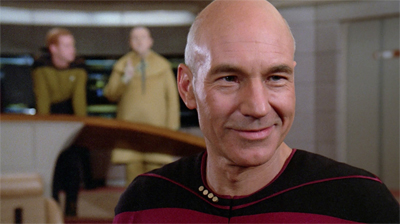 It's worth noting that Picard is quite supportive of Riker this week. If a little enthused at the prospect of blowing him out of the stars. Metaphorically speaking, of course...