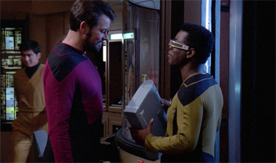 LaForge packs light...