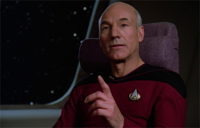 """""""Commander Riker is my Number One first officer!"""""""