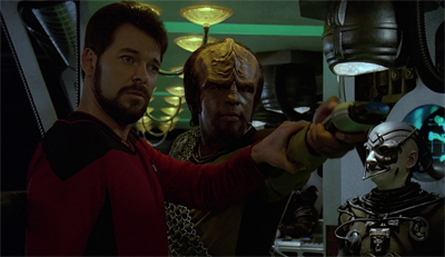 Worf gets shot down, again...