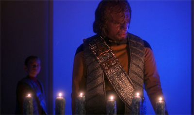 Worf lightens up a bit...