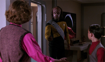 Worf's social skills are a little rusty...