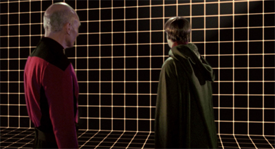 Out, out, brief holodeck...