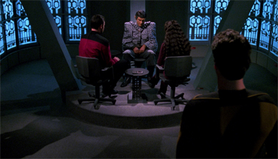 I love that - for all the Enterprise's optimism - they still have an interrogation room.