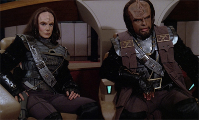 The crew worried that Worf had taken casual Friday a little too far...