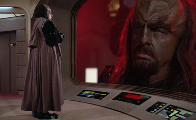 Worf gets to play dress-up...