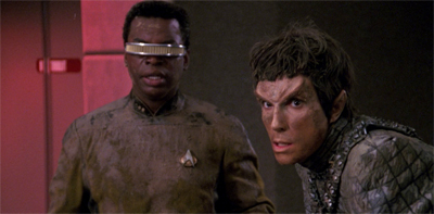 Guess who Geordi is bringing to dinner...