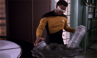 Geordi's abstract sculpting was all the rage on the Enterprise...
