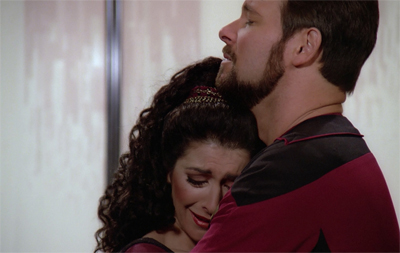 Deanna was less than pleased when Riker informed her he was keeping the beard...