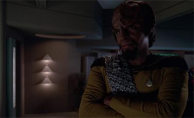 A Klingon alone...