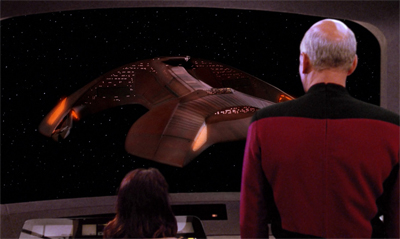 I wonder if Picard feels the same dread that the audience do whenever they see that ship...