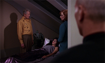 Crusher's Troi-ing to make her feel better...