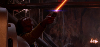 Worf gets all fired up...