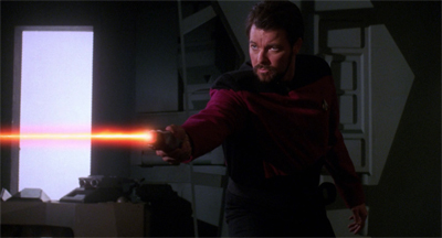 Riker's relationship enters a new phase...