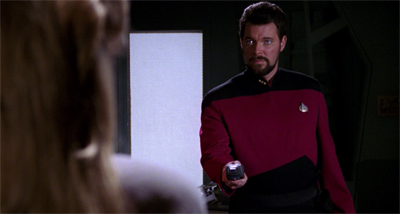 Riker's ideas of romance are simply stunning...