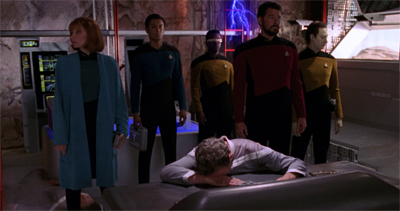 the Enterprise interrupted the outpost's mid-afternoon nap time...