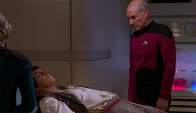 Probably not a good idea for Picard to talk about leaving Liko to die while the poor guy is in earshot...