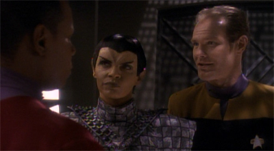 I can't help but feel that casting the Rick Berman stand-in as a Romulan was a little pointed...