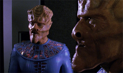 Rubber chin aliens...