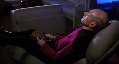 Picard seems happy. This cannot last.