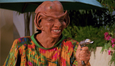 """Nothing says """"credible threat"""" like a Ferengi guest star..."""