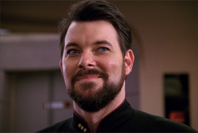 Riker is very fond of showing the ladies his (h)orga'hn...