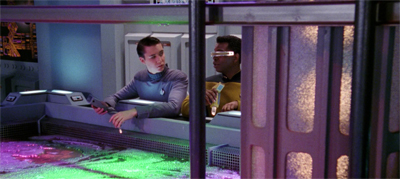 Geordi suspects Wes' date might be a bit of a wash...