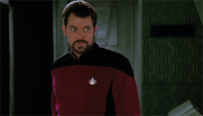 Riker's just glad he doesn't have a secret brother/twin/transporter clone out there anywhere...