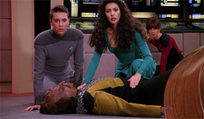 And Worf is out for the count...