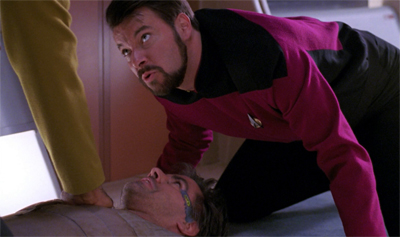 Ain't nothing going to break his stride, ain't nothing gonna hold him down... except Riker, apparently...
