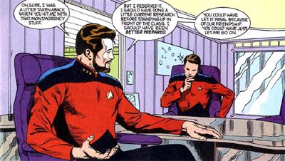 Teaching Riker a thing or two...