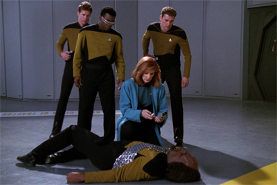 Worf's been working flat-out...