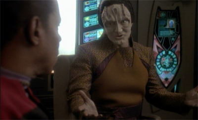 Garak is all sewn up...