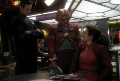 """You are going to enjoy this crossover, if we have to give Jonathan Frakes a goatee to make it happen!"""