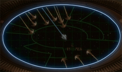 """""""If only there were a third dimension the Defiant could manoeuvre in!"""""""