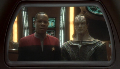 Who wants to bet this photo went right up on Dukat's creepy spacebook page?