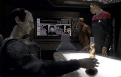 Whoever decided to let Dukat crack open the booze before that briefing was a genius...