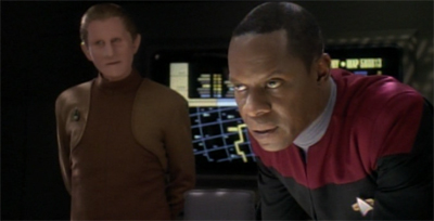 """""""We were able to mock up a powerpoint pretty quickly. You'd be amazed at how frequently the Federation has to deal with evil twins."""""""