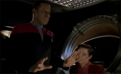 """What's this about bring Bajor into the Federation? Starfleet forgot about that years ago..."""