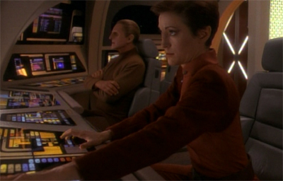 If Odo had been wrong and it had been Kira, this would have been the most awkward runabout ride home ever...