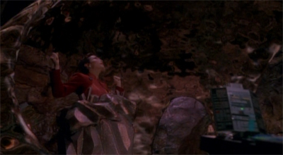 Odo does overwhelm her a bit...