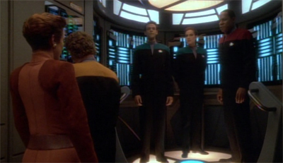 "When Sisko said ""... and I want us beamed back twenty minutes ago"", he wasn't being literal..."