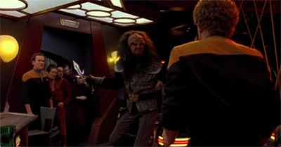 Just when you think the universe doesn't care, it sends along a bloodthirsty Klingo to make O'Brien suffer...