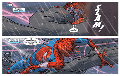 You won't have Spider-Man to kick around any more...