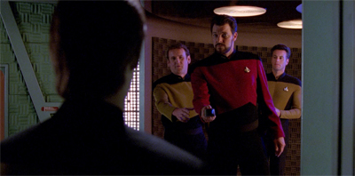 Riker isn't the least bit phased...