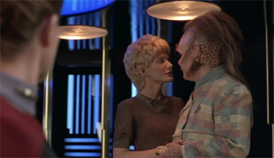 I still question the decision to make the show's first alpha couple a three-year-old girl and a Neelix...