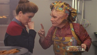 Can you smell what Neelix is cooking?