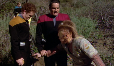 """Mister Neelix, you've been warned about personal space before..."""