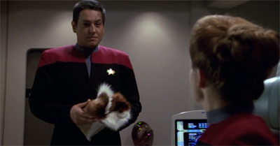 Part of me wonders how Chakotay had time to recover his medicine bundle before the ship blew up in Caretaker, or even if his medicine bundle was on his ship in Caretaker, but I think I'm over-thinking it...